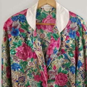 Vtg Victoria's Secret Floral Robe Dressing Gown